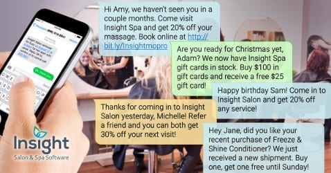 Text Messaging for Salons & Spas