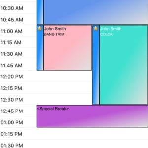 Salon Phone App - Appointment Schedule