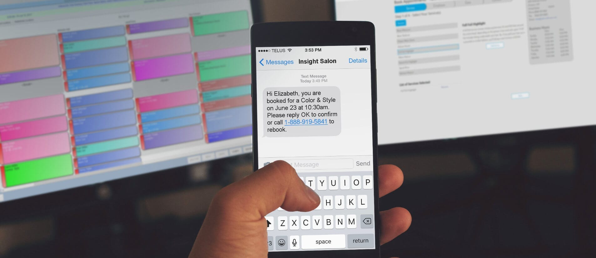 Send free text messages to salon & spa clients