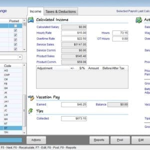 Payroll Income