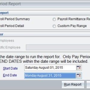 Payroll Period Report