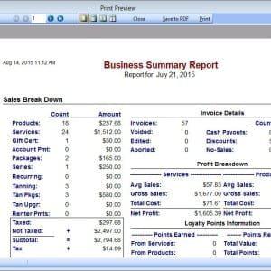 Insight Software Business Reporting Features