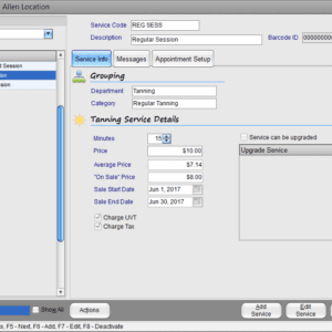 Insight Tanning Management Software Tanning Services set up