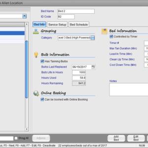 Insight Software Tanning Bed Setup Management