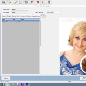 client management screen - photos