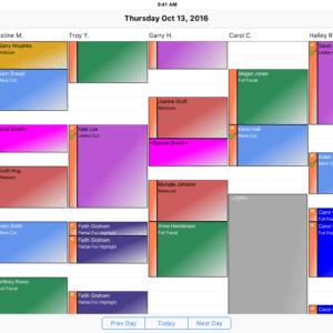 Salon iPad App - Appointment Schedule