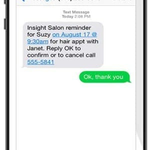 Insight Software text message appointment reminder
