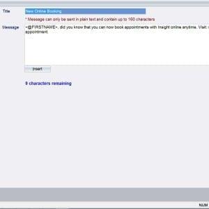 Insight Salon Software online booking notification
